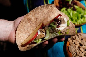 Fresh veggie wraps along the Yosemite Grand Traverse.